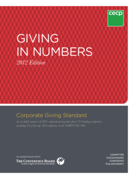 Giving in Numbers: 2012 edition