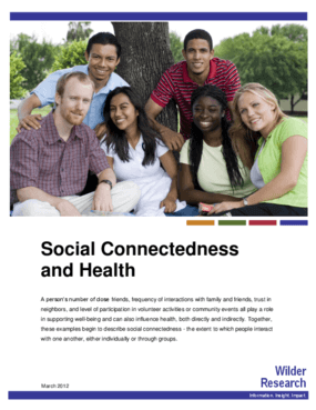 Social Connectedness and Health