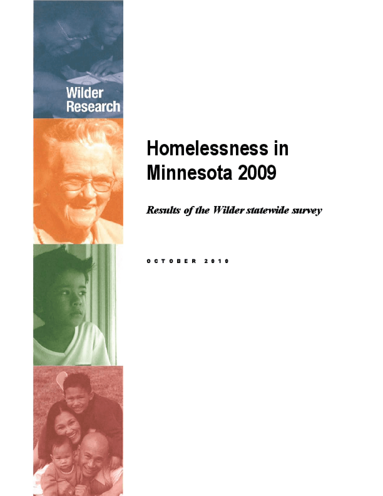 Homelessness in Minnesota 2009