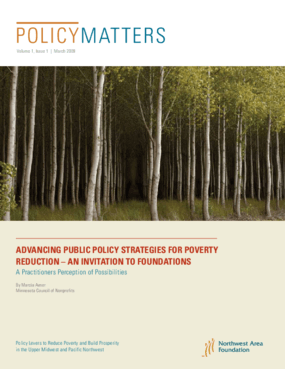 PolicyMatters: Advancing Public Policy Strategies for Poverty Reduction - An Invitation to Foundations