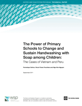 The Power of Primary Schools to Change and Sustain Handwashing with Soap among Children: The Cases of Vietnam and Peru