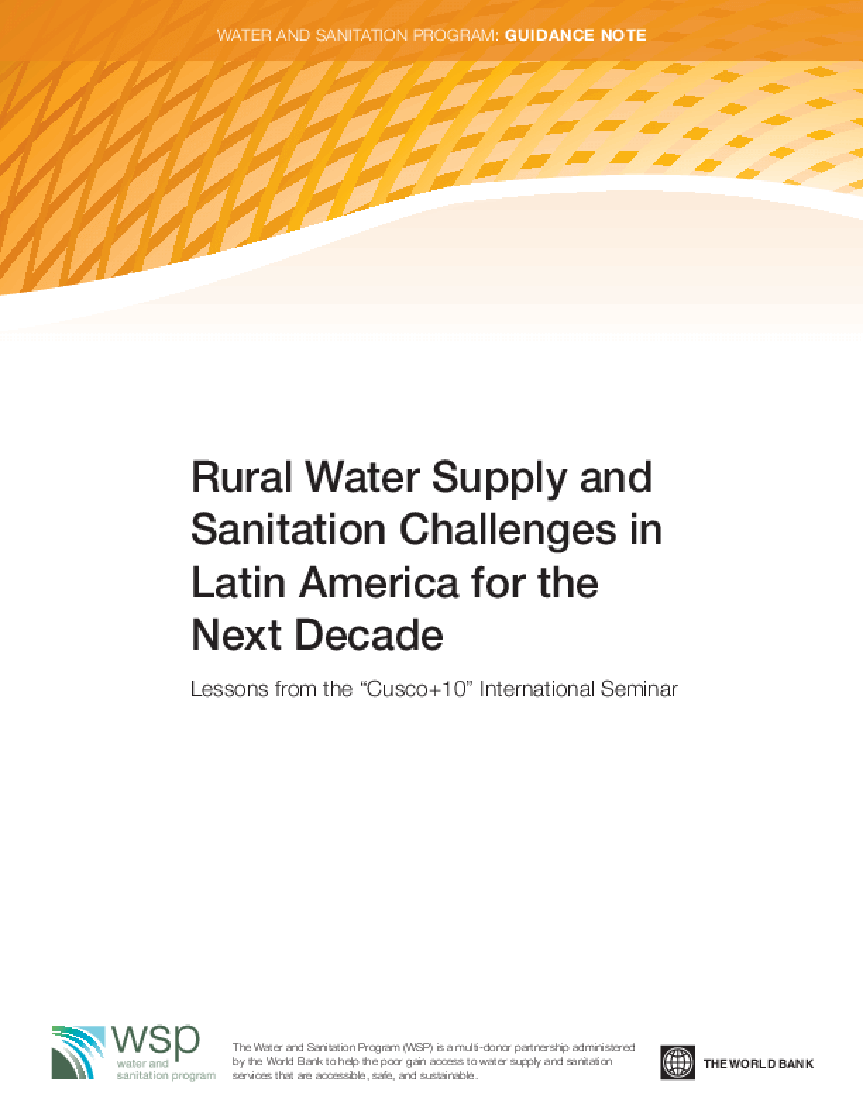 Rural Water Supply and Sanitation Challenges in Latin America for the Next Decade