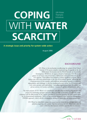 Coping with Water Scarcity: A Strategic Issue and Priority for System-Wide Action