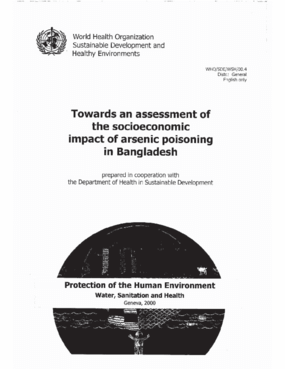 Towards an Assessment of the Socioeconomic Impact of Arsenic Poisoning in Bangladesh
