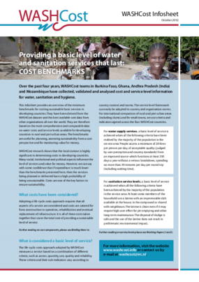 Providing a Basic Level of Water and Sanitation Services that Last: Cost Benchmarks