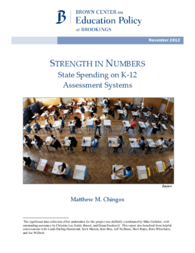 Strength in Numbers: State Spending on K-12 Assessment Systems