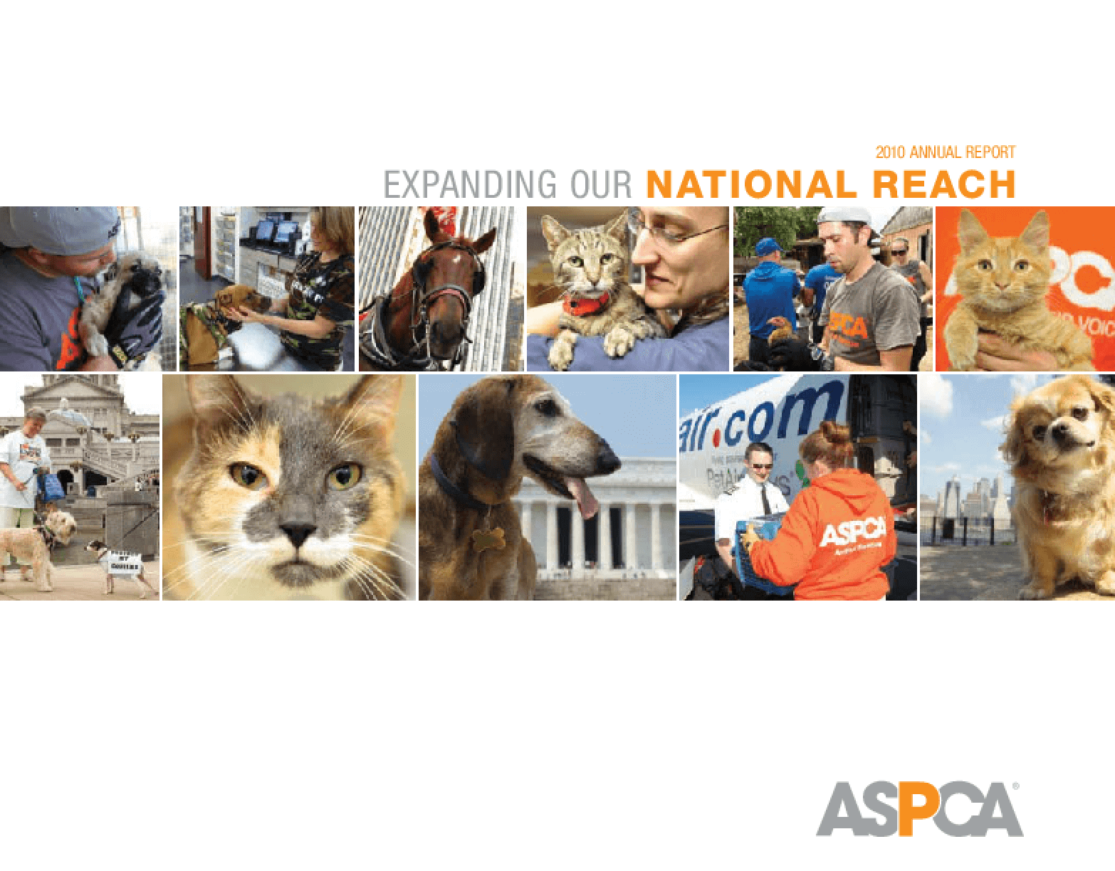 Expanding Our National Reach: The ASPCA's 2010 Annual Report