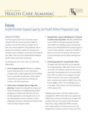 Fresno: Health Providers Expand Capacity, but Health Reform Preparation Lags
