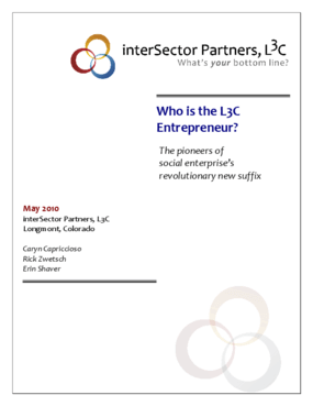 Who is the L3C Entrepreneur? The pioneers of social enterprise's revolutionary new suffix