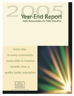 Public Education Network 2005 Annual Report - Public Responsibility for Public Education