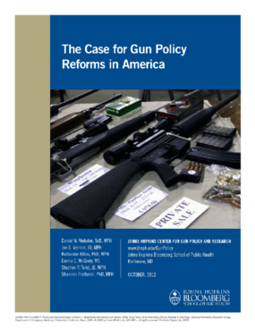 The Case for Gun Policy Reforms in America