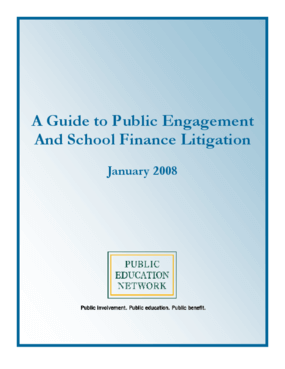 A Guide to Public Engagement And School Finance Litigation - 2008