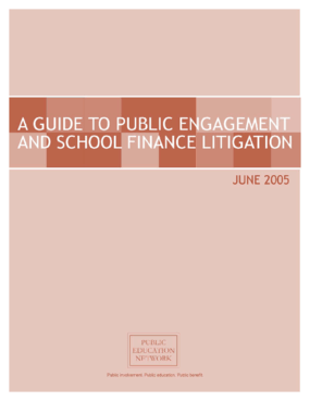A Guide to Public Engagement and School Finance Litigation - 2005