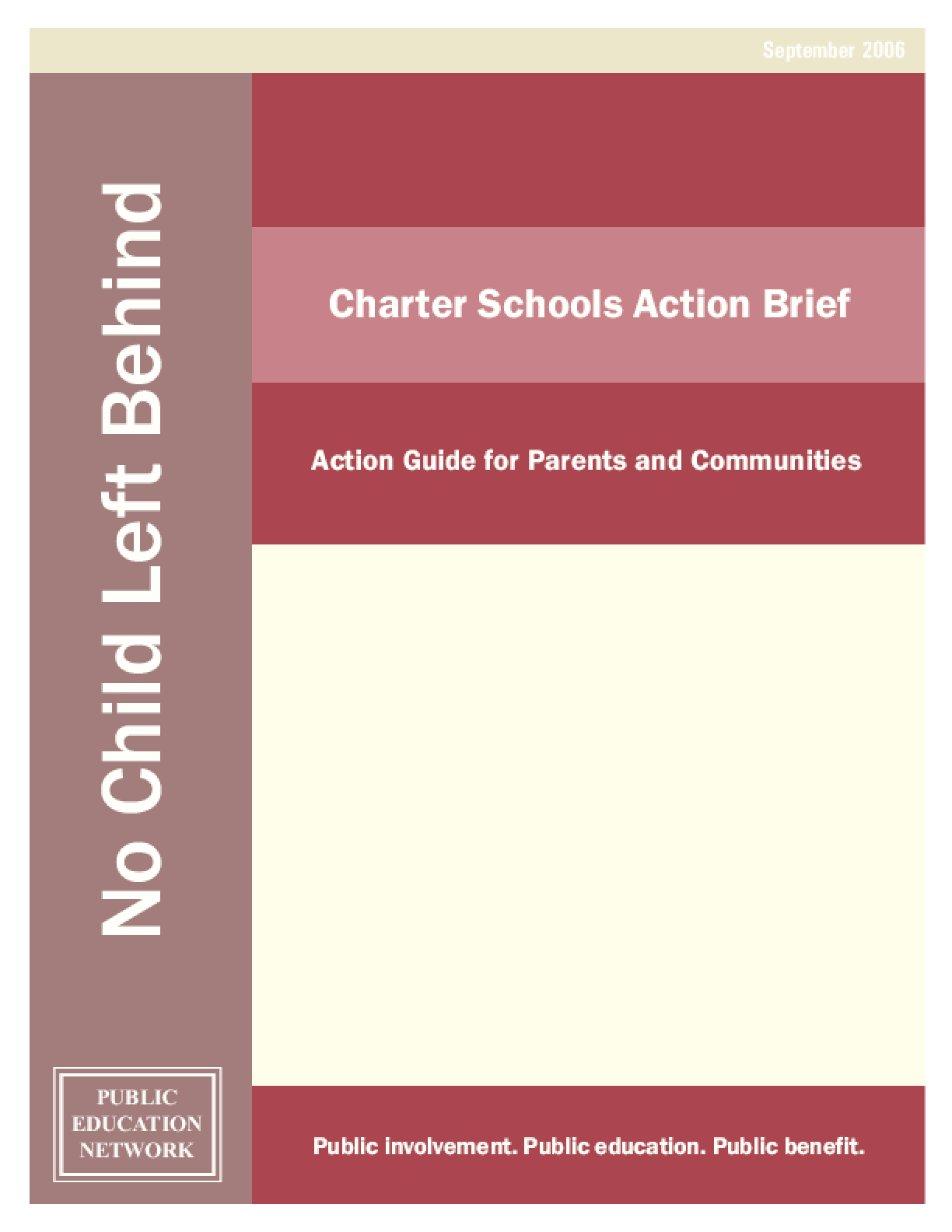 Charter Schools Action Brief: Action Guide for Parents and Communities