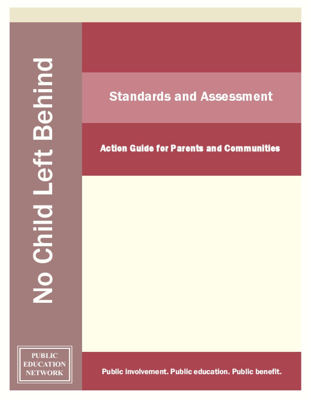 Standards and Assessment: Action Guide for Parents and Communities