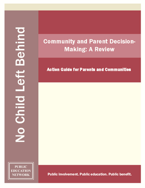 Community and Parent Decision-Making - A Review: Action Guide for Parents and Communities