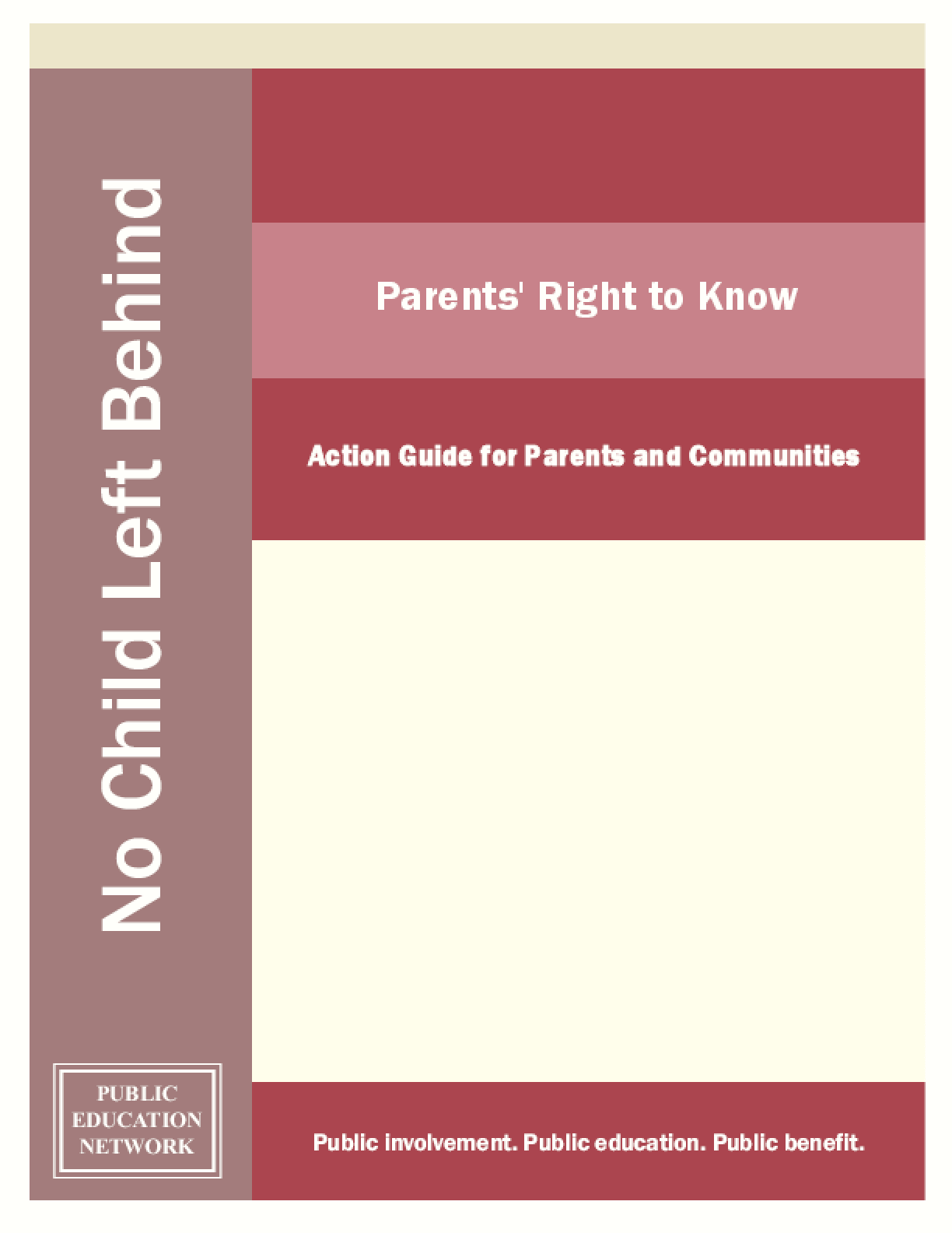 Parents' Right to Know: Action Guide for Parents and Communities