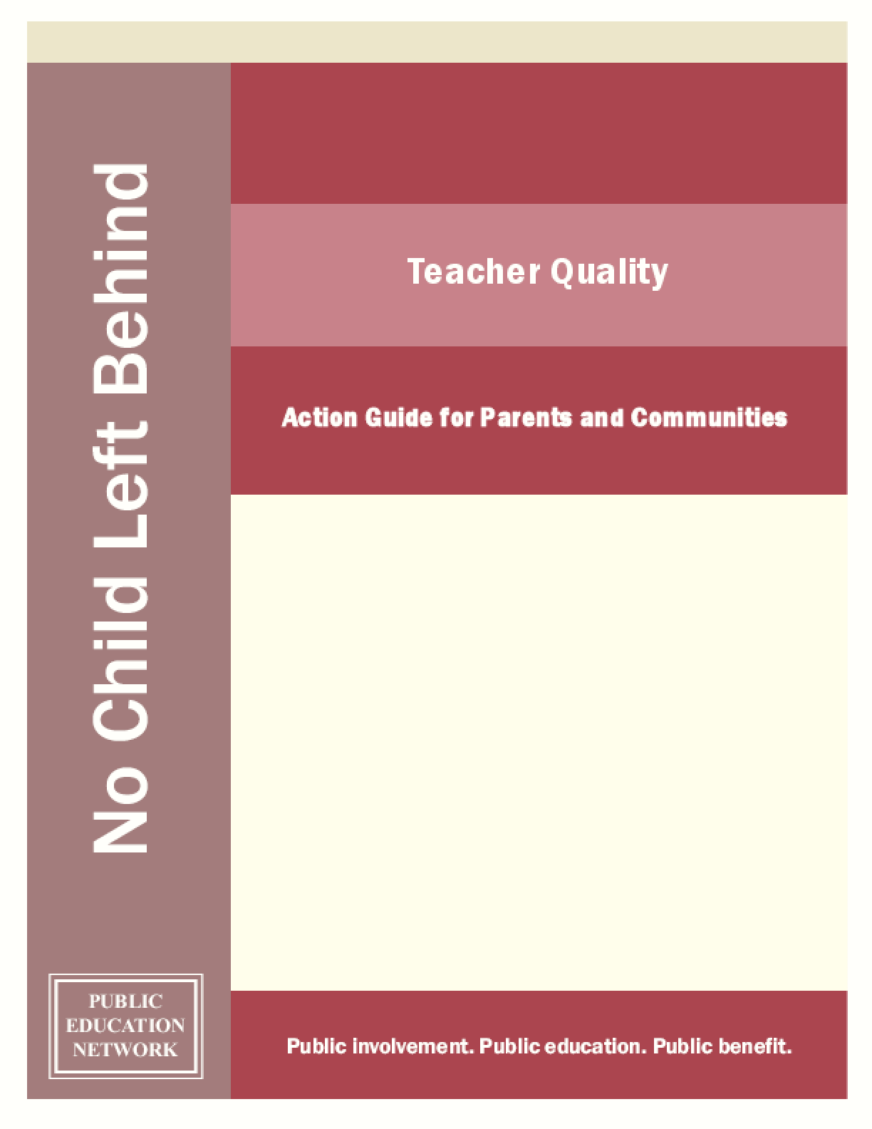 Teacher Quality: Action Guide for Parents and Communities