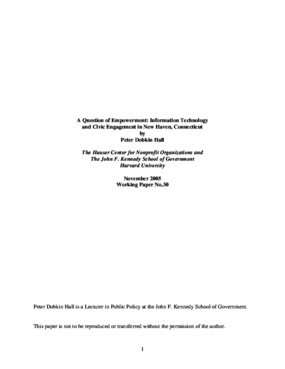 A Question of Empowerment: Information Technology and Civic Engagement in New Haven, Connecticut