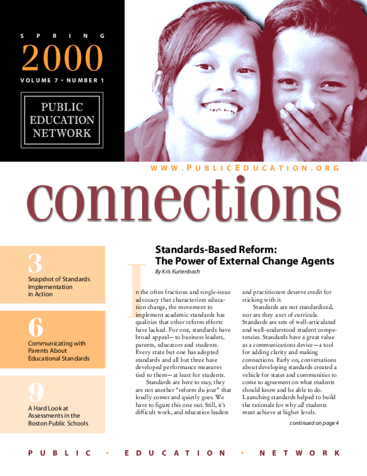 Connections: A Journal of Public Education Advocacy - Spring 2000, Vol. 7, No. 1