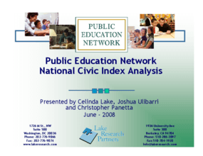 PEN National Civic Index Analysis