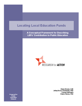 Locating Local Education Funds: A Conceptual Framework for Describing LEFs' Contribution to Public Education