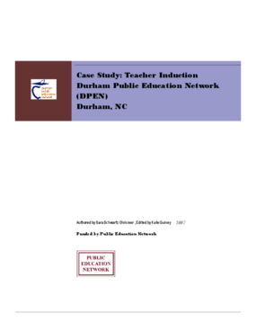 Case Study: Teacher Induction Durham Public Education Network (DPEN)