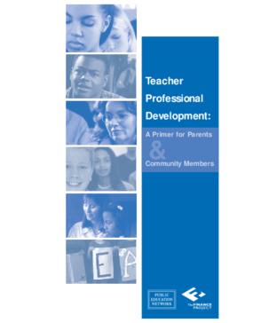 Teacher Professional Development: A Primer for Parents and Community Members