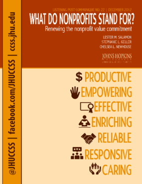 What do Nonprofits Stand For? Renewing the Nonprofit Value Commitment