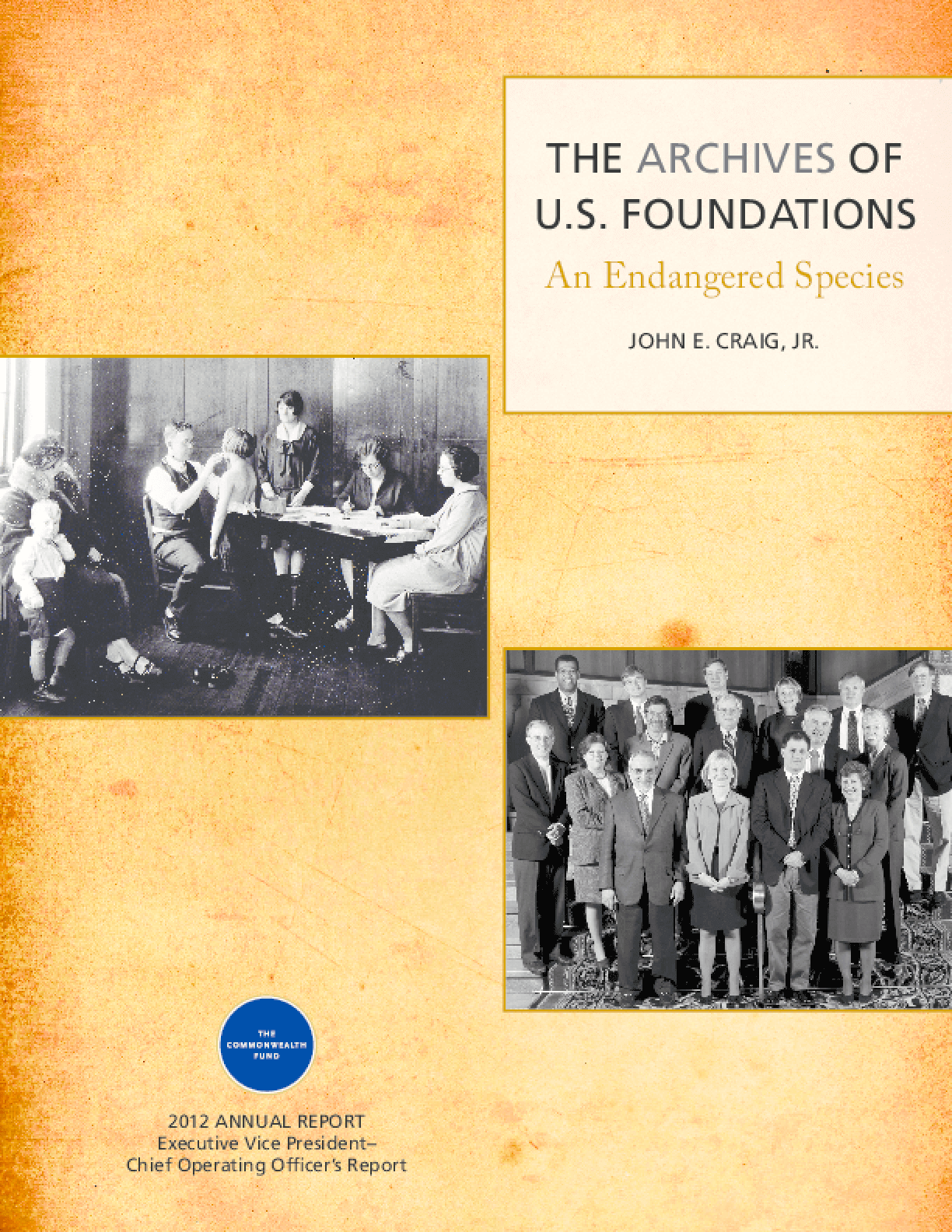 The Archives of U.S. Foundations: An Endangered Species