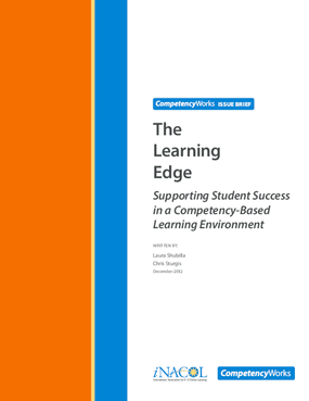 The Learning Edge: Supporting Student Success in a Competency-Based Learning Environment
