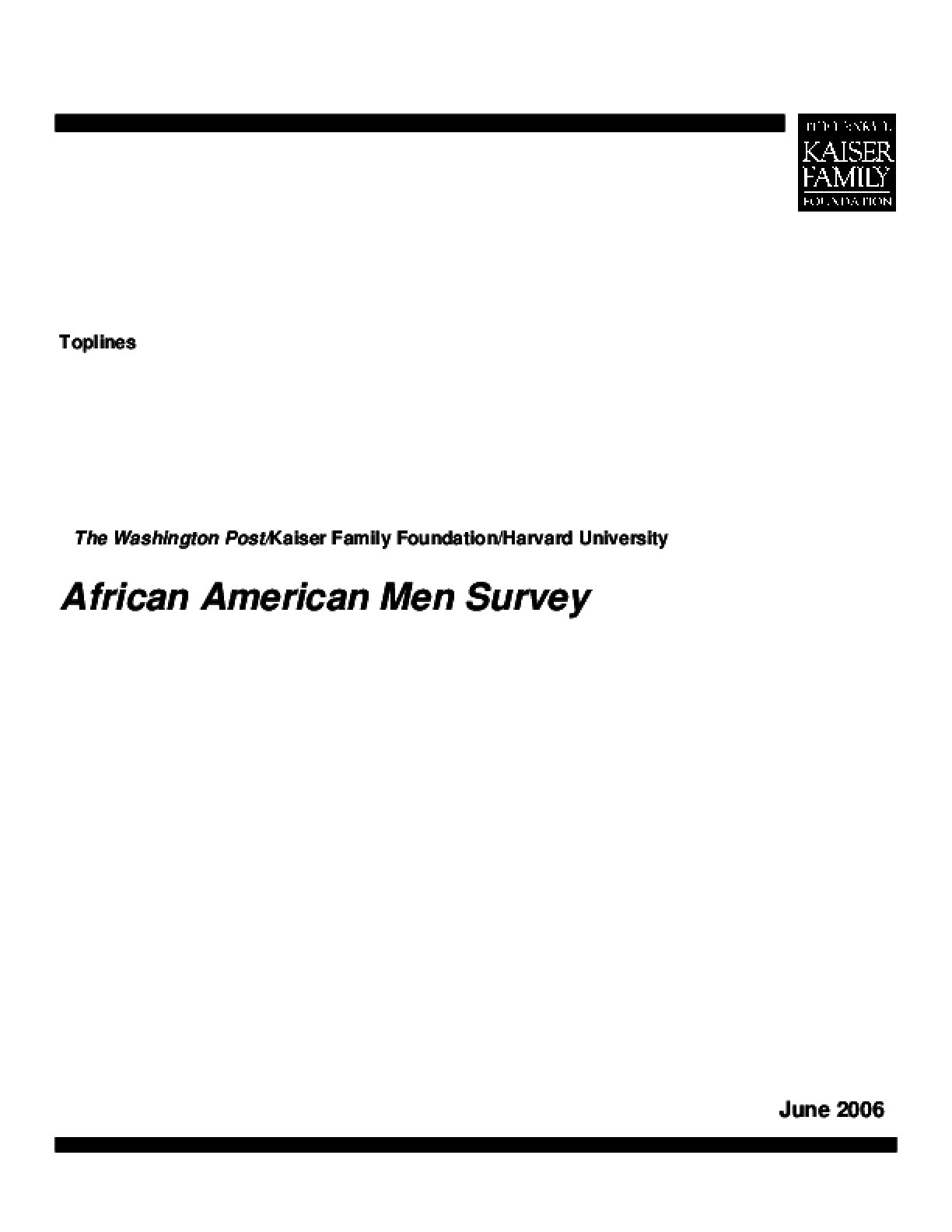 African American Men Survey