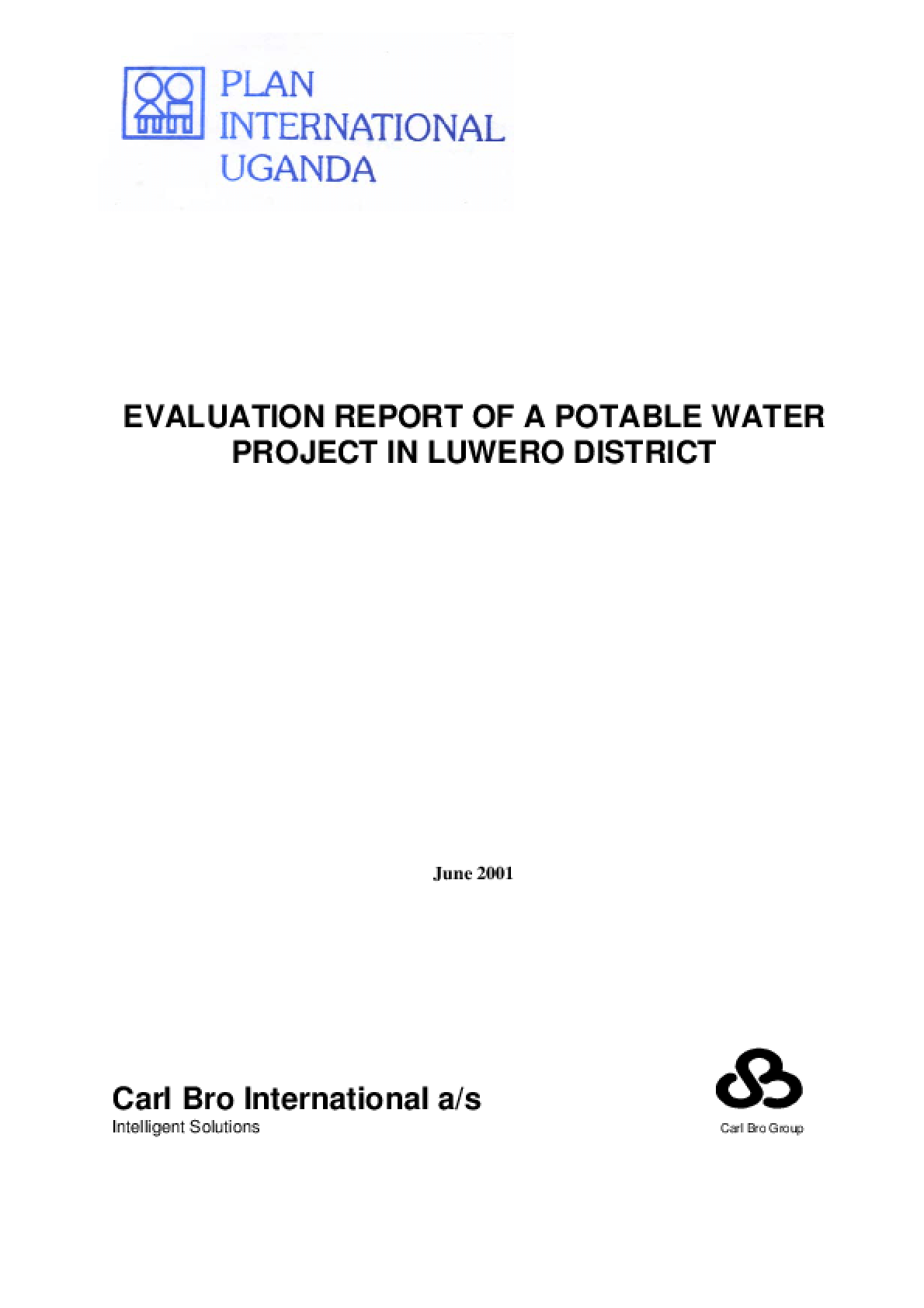Evaluation Report of a Potable Water Project in Luwero District