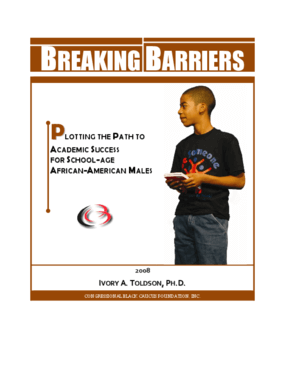 Breaking Barriers: Plotting the Path to Academic Success for School-Age African-American Males