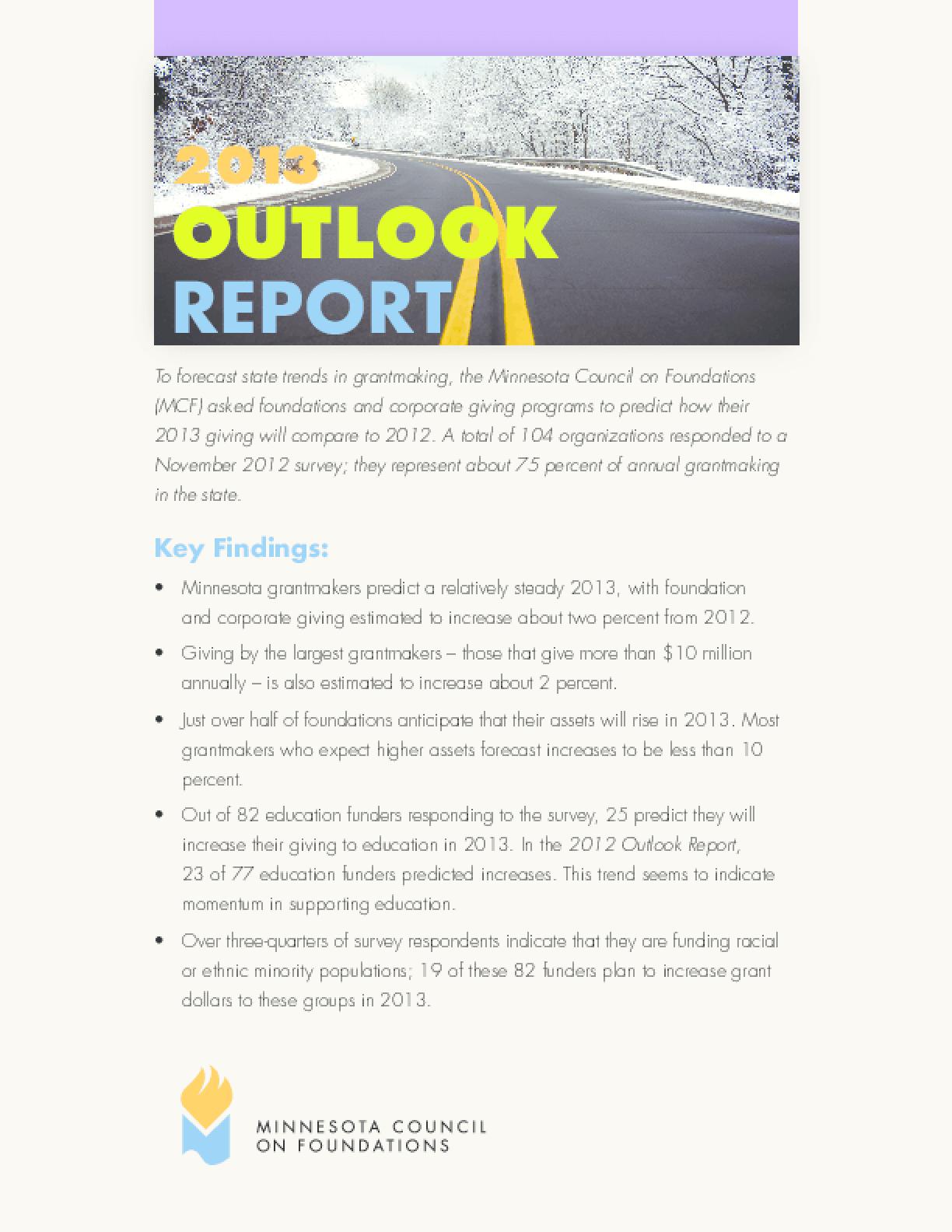 2013 Outlook Report