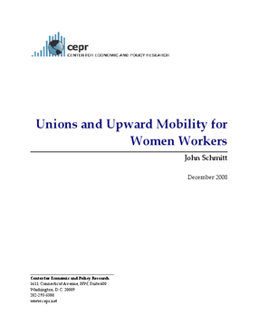 Unions and Upward Mobility for Women Workers
