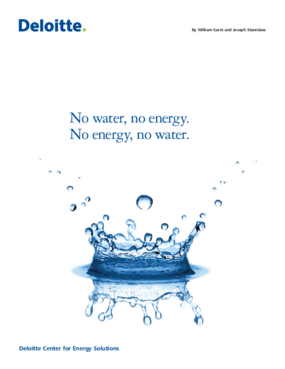 No Water, No Energy. No Energy, No Water.