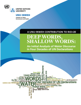 Deep Words, Shallow Words: An Initial Analysis of Water Discourse in Four Decades of United Nations Declarations