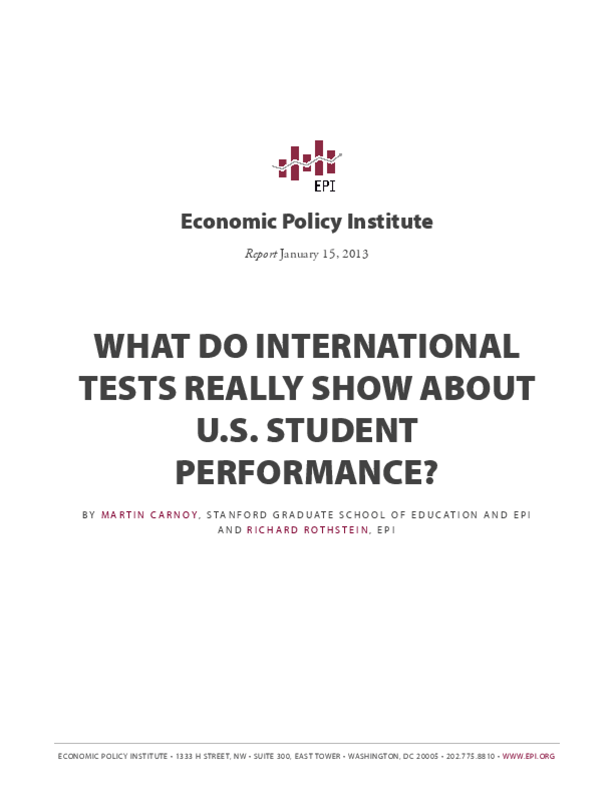 What Do International Tests Really Show About U.S. Student Performance?