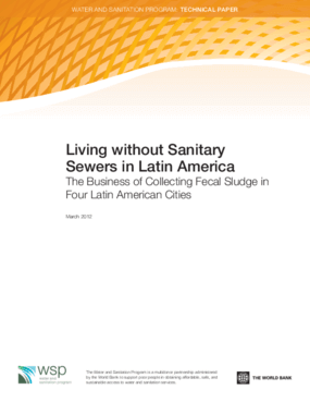 Living without Sanitary Sewers in Latin America: The Business of Collecting Fecal Sludge in Four Latin American Cities