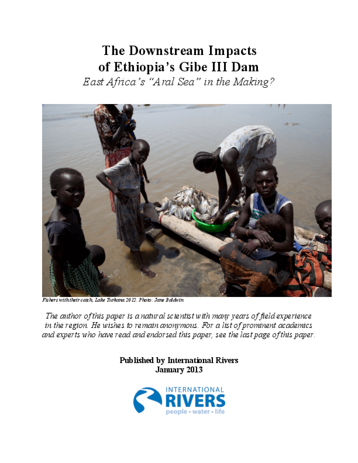 The Downstream Impacts of Ethiopia's Gibe III Dam