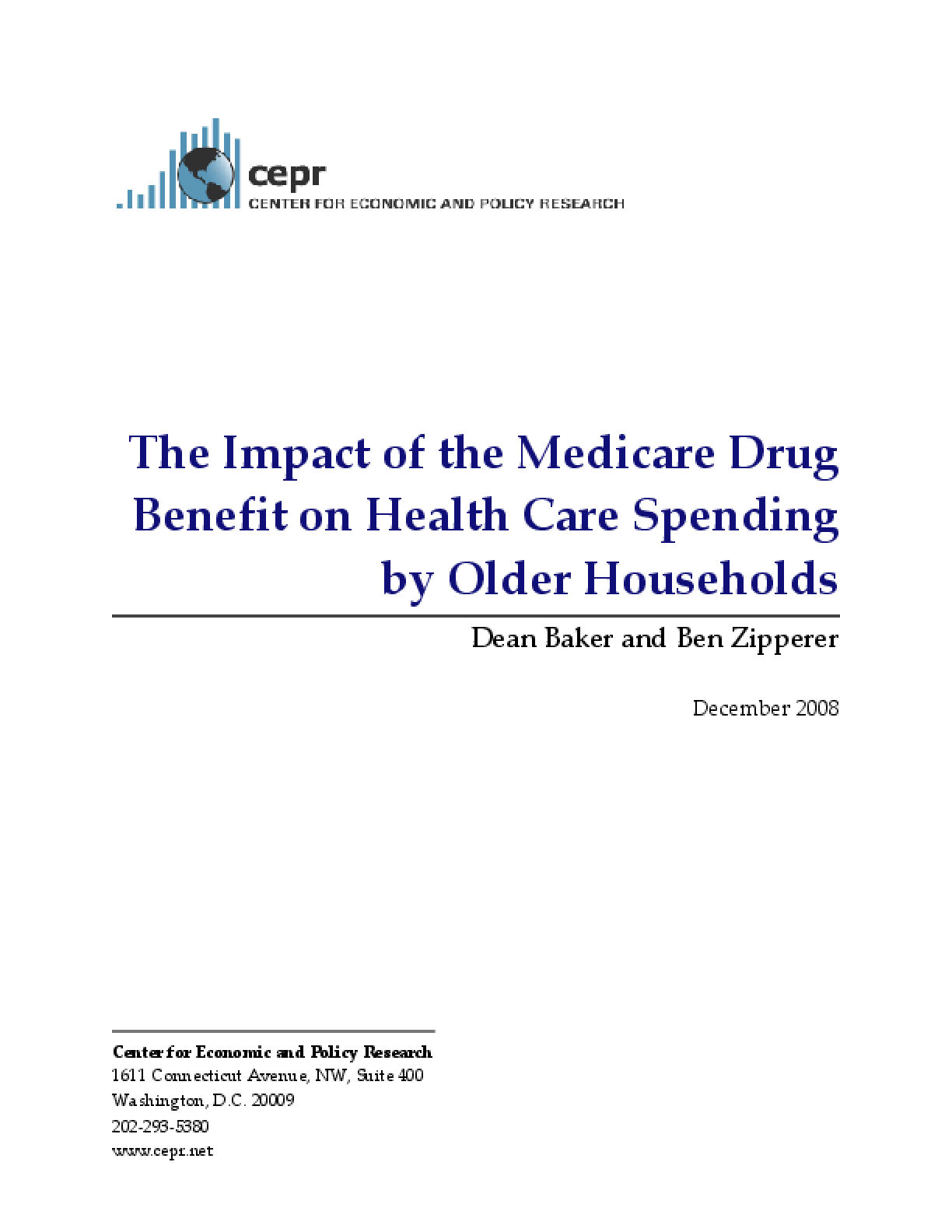 The Impact of the Medicare Drug Benefit on Health Care Spending by Older Households