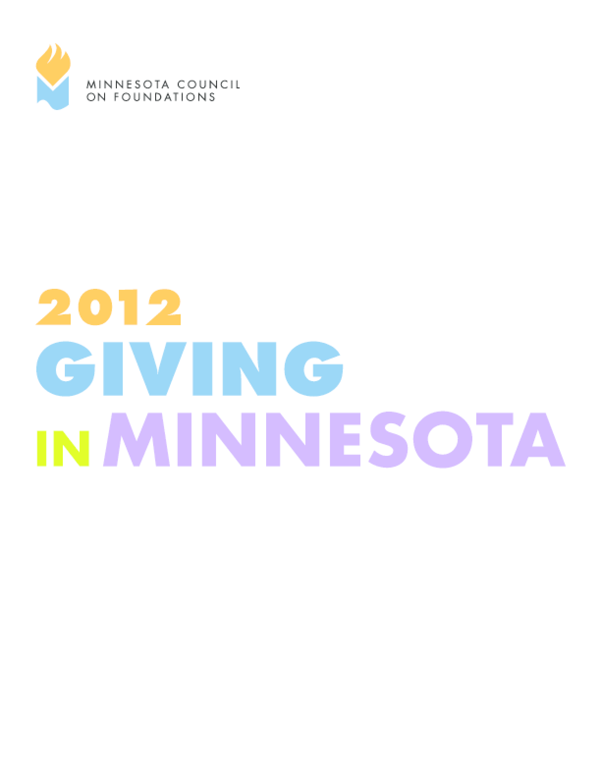 Giving in Minnesota, 2012 Edition