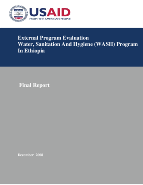 External Program Evaluation: Water, Sanitation and Hygiene (WASH) Program in Ethiopia