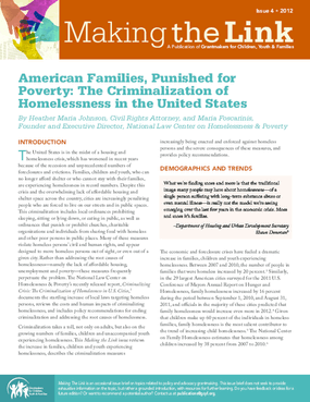 American Families, Punished for Poverty: The Criminalization of Homelessness in the United States