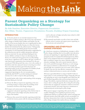 Parent Organizing as a Strategy for Sustainable Policy Change