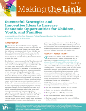Successful Strategies to Increase Economic Opportunities for Children, Youth, and Families