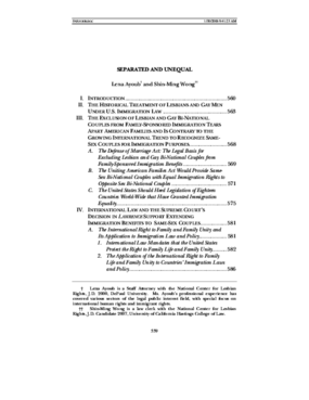 Foreign and International Law in Gay Rights Litigation: Separated and Unequal