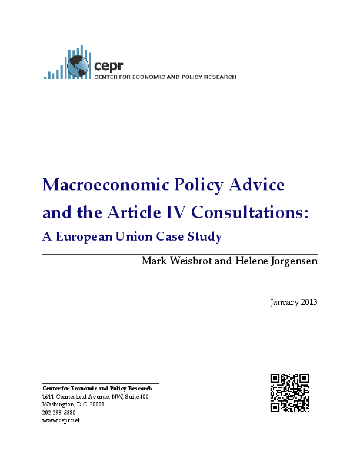 Macroeconomic Policy Advice and the Article IV Consultations: A European Union Case Study