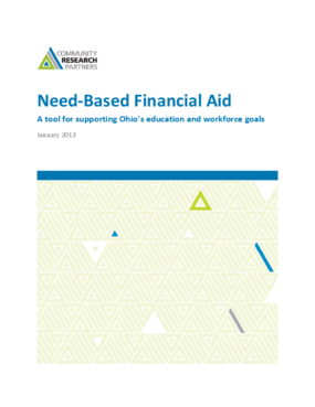 Need-Based Financial Aid: A Tool for Supporting Ohio's Education and Workforce Goals